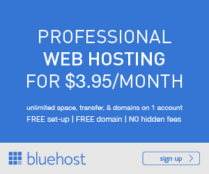 BlueHost WordPress Hosting Starting from $3.95/month