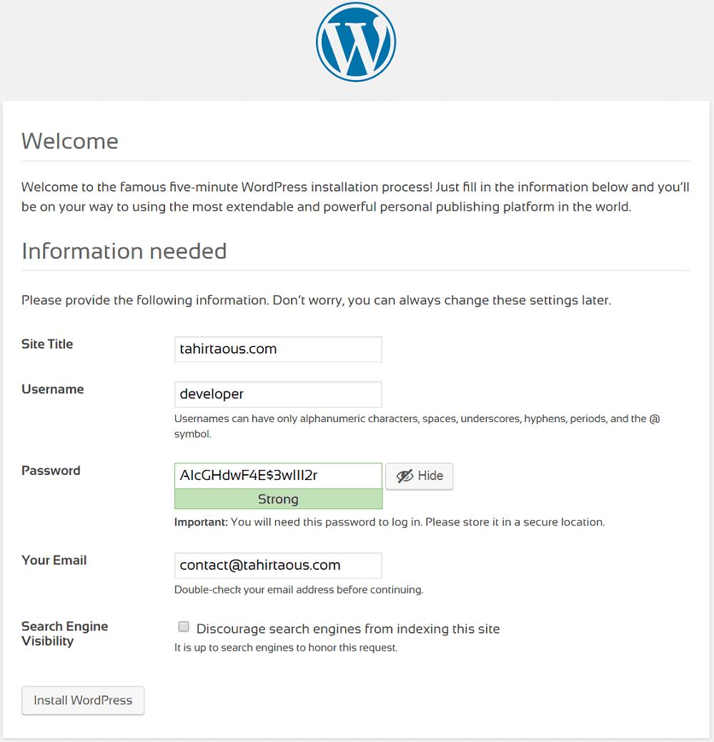How To Install WordPress On Windows 7