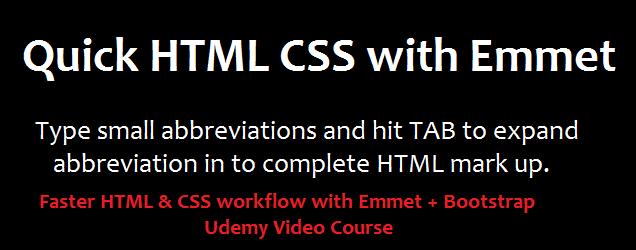 emmet tutorials