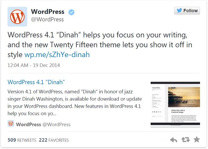 twitter for wordpress