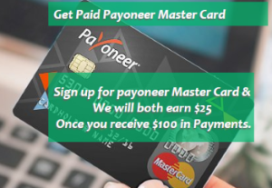 Payoneer Master Card affiliate 1